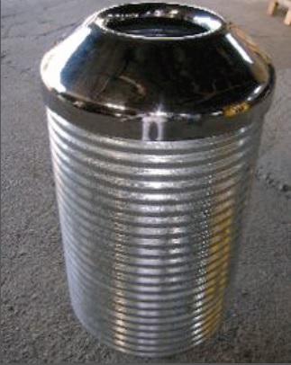 hot dip gal street furniture bin