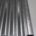 Gable roll for mini orb or small corrugated iron gal sheet; suit gal awnings