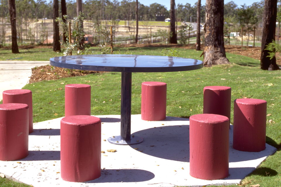 Circular Steel Table