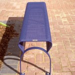 steel bench seat , ripple iron seat skin type 16