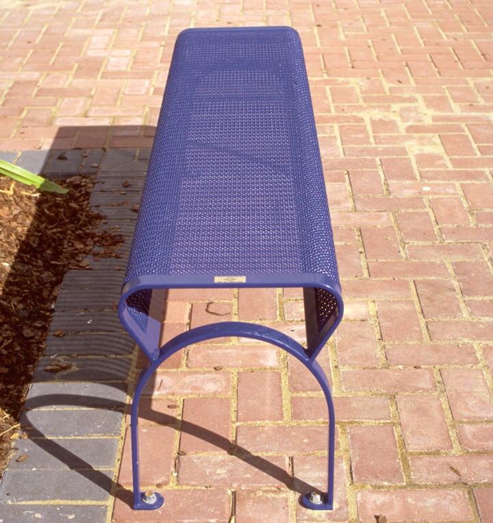 steel bench seat , ripple iron seat skin type 16