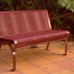 Ripple Iron seat with gal ultracoat finish long lasting seat