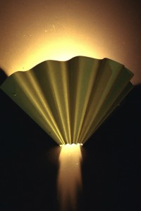 Hand made wall light fitting