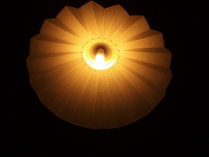Ripple Iron Pleated light shade 720 dia.